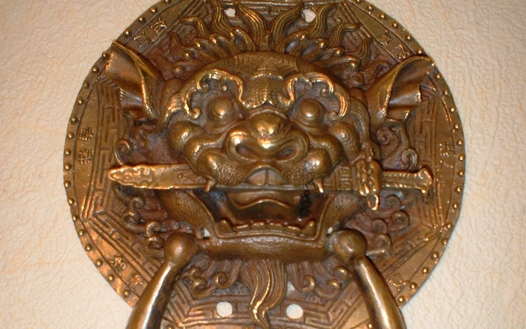 Lleó xinès amb espasa